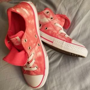 New Coral Converse All-Star Girl 3 Tie Dye Slip-on